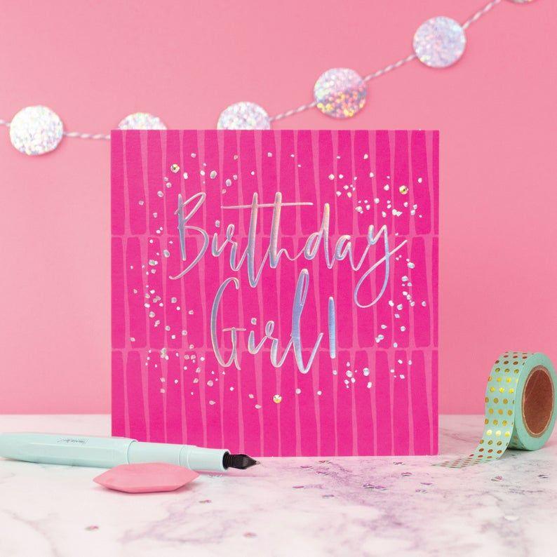 Birthday Cards - BIRTHDAY Girl - EMBELLISHED Birthday CARDS - Birthday CARD