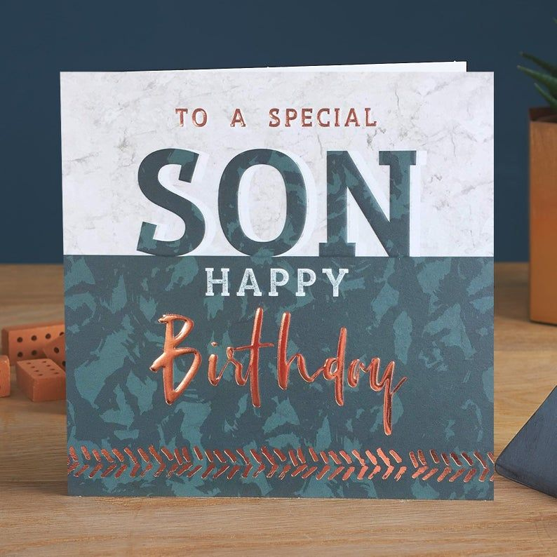 Birthday Cards For Son - To A SPECIAL Son - SON Birthday CARDS - Special SO
