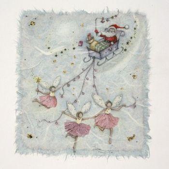 Christmas Cards - SANTA & His SLEIGH CHRISTMAS Cards - CHRISTMAS Cards For FRIENDS & Family - CHRISTMAS Cards ONLINE - Cute FATHER Christmas Cards