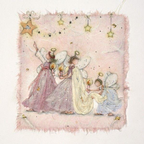 Navity Scene Christmas Cards - CUTE Christmas FAIRIES Greeting CARD - Chris