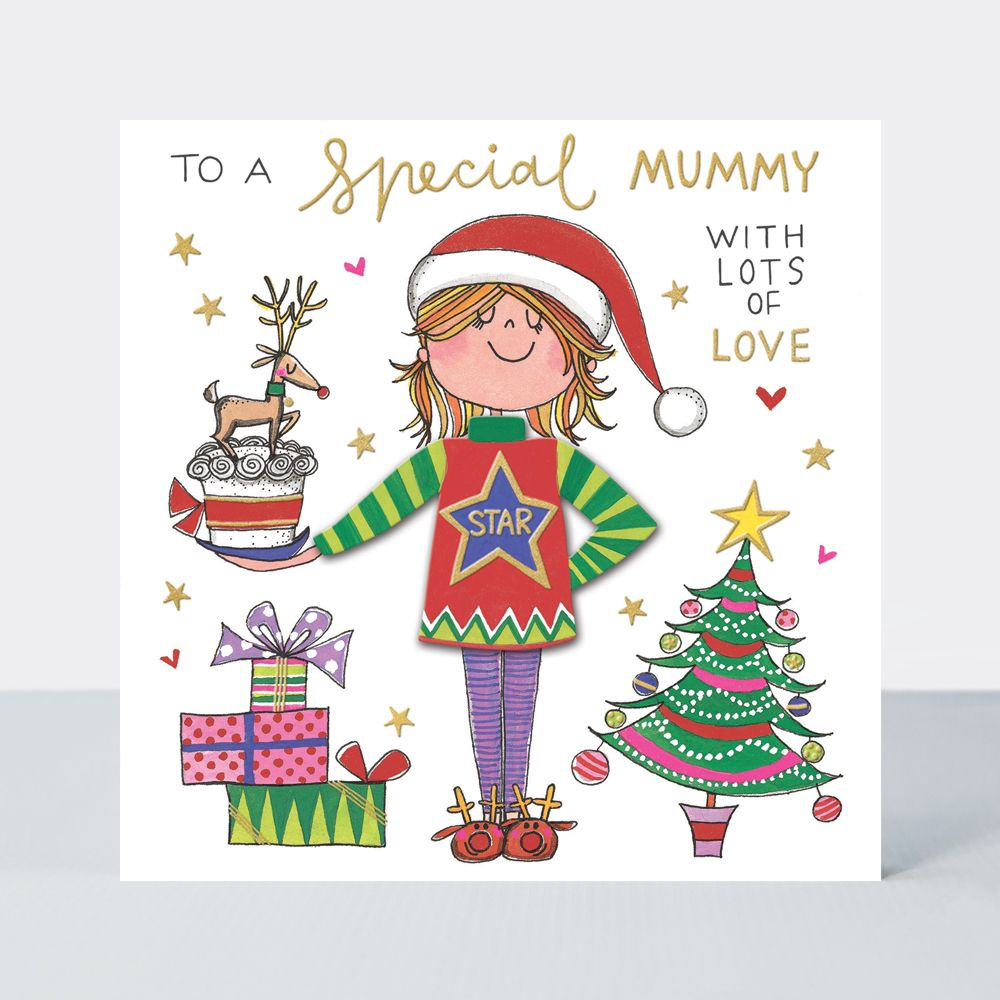 Mum Christmas Cards - To A SPECIAL Mum WITH Lots OF LOVE - MUM Christmas CA