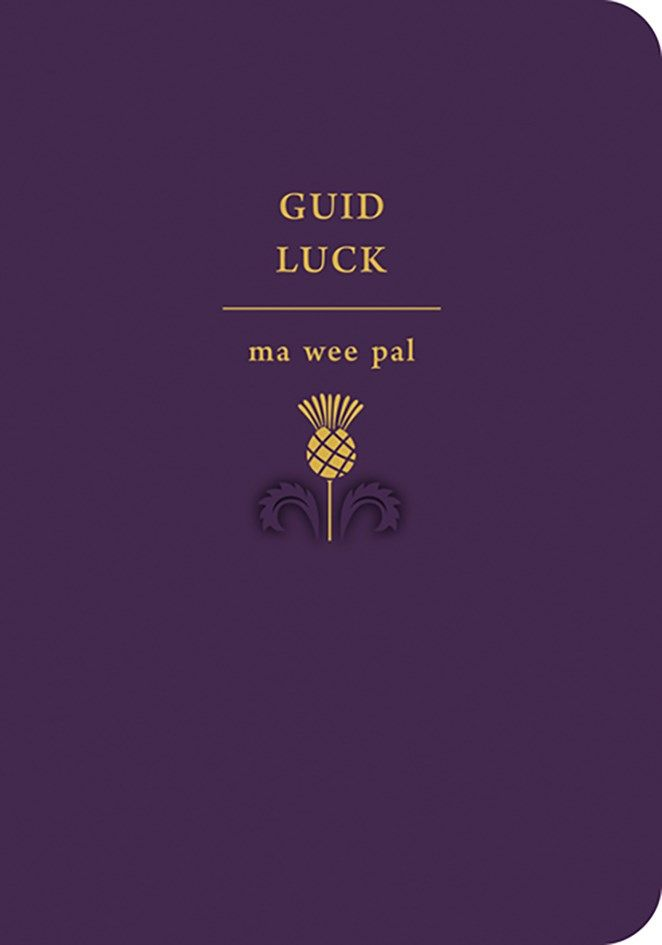 Good Luck - GUID Luck MA WEE Pal - Scottish GOOD Luck Cards - GOOD Luck CAR