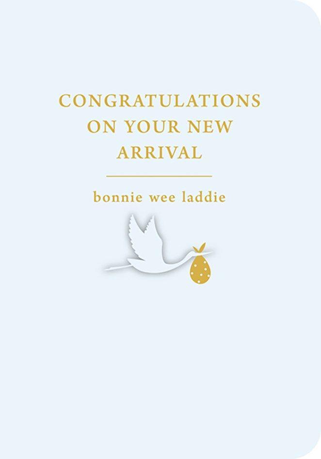 Scottish Baby Card - BONNIE Wee LADDIE - BABY Boy NEW Baby CARDS - Birth CO