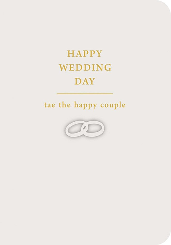 Scottish Wedding Card -  TAE THE HAPPY COUPLE - WEDDING Day CARDS - WEDDING