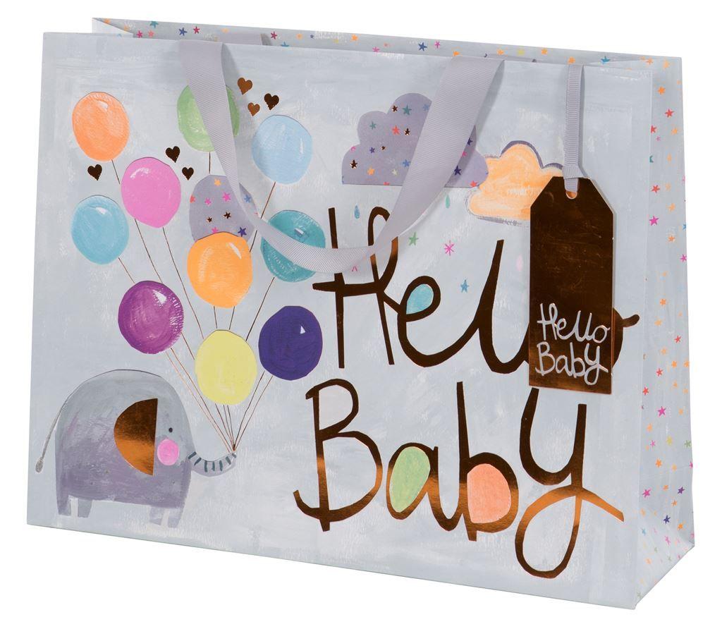 A Large Luxury Gift Bag - Baby GIFT Bag - LARGE GIFT Bags - HELLO BABY Gift