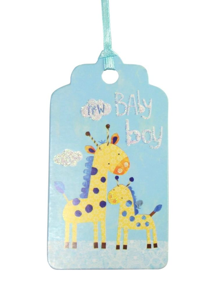 Gift Tags - Baby SHOWER Gift Tags 3 PACK - BABY GIFT Tags - BABY Boy BLUE G