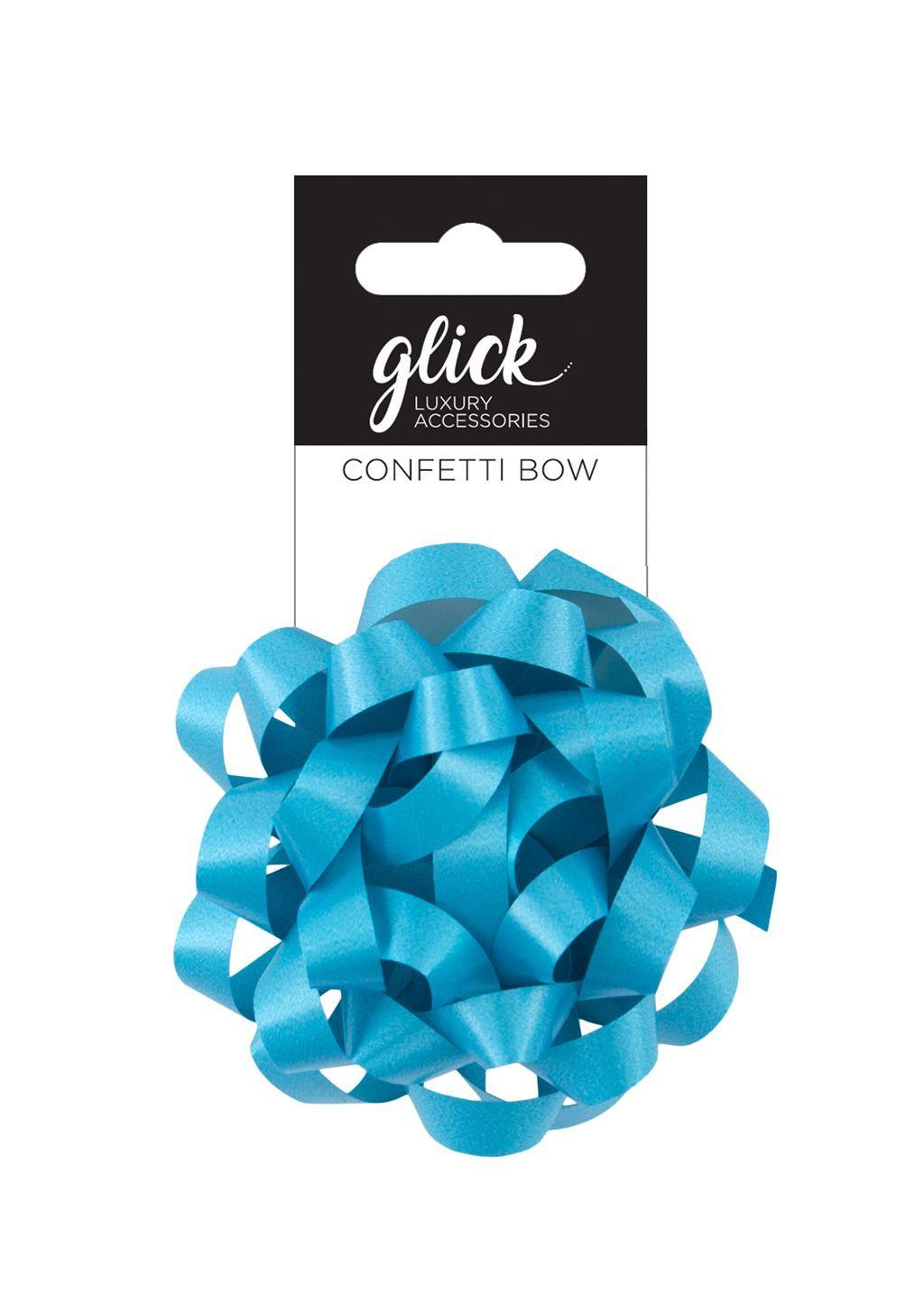 Confetti Bows - AQUA - PACK Of 3 - 8CM Satin FINISH Confetti BOWS - Gift WR