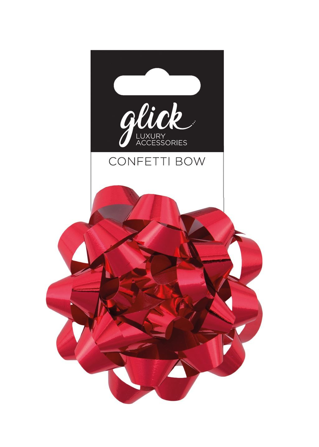 Metallic Gift Bows - METALLIC RED - PACK Of 3 - 8CM Confetti BOWS - Gift WR