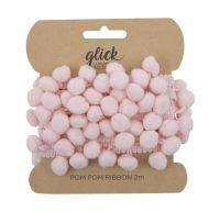 Pom Pom Ribbon 2M - LIGHT PINK Pom Pom RIBBON - POM POM Trim - LUXURY Gift WRAP - Wrap ACCESSORIES - PINK Gift WRAP
