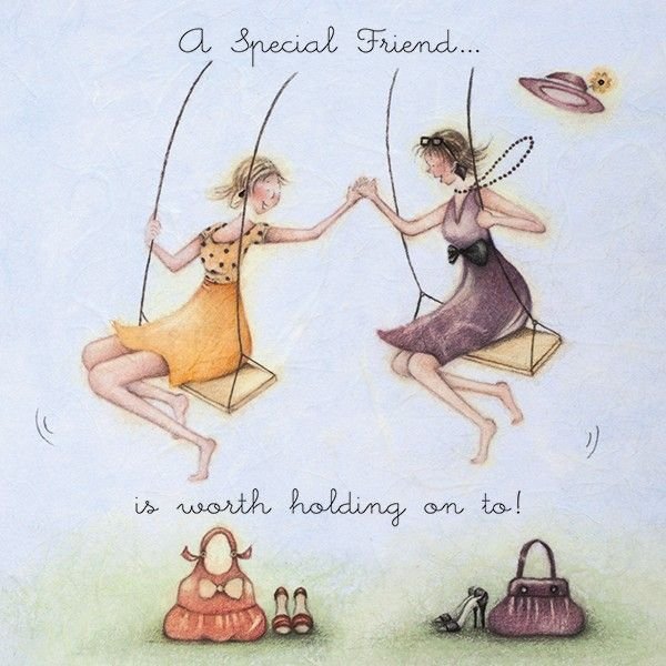 Birthday Cards For Her - A SPECIAL Friend Is WORTH Holding ON TO - Birthday