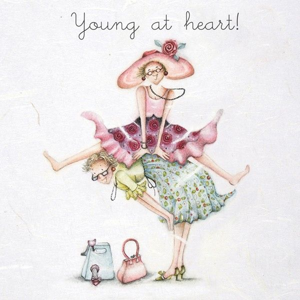 Birthday Cards For Her - YOUNG At HEART - Fun BIRTHDAY Cards - YOUNG At HEA