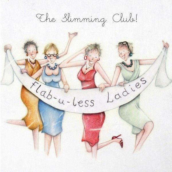 Slimming Club Birthday Card - FLAB-U-LESS Ladies -  FUNNY Slimming BIRTHDAY