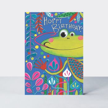 Frog Birthday Card For Child - GOOGLY 3D Moving EYES Birthday CARDS - HOPPY Birthday -  GOOGLY Eye FROG Birthday CARD For SON - Grandson