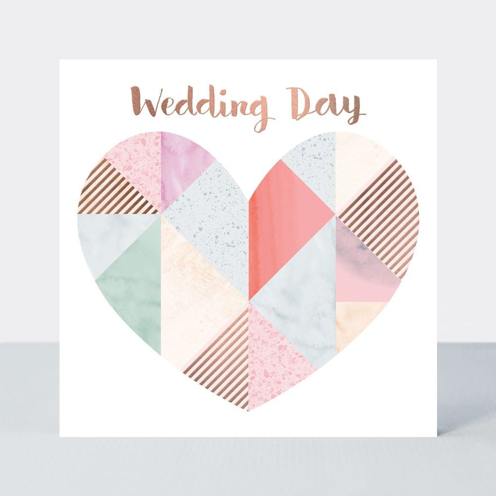 Wedding Cards - WEDDING DAY - Blushed ROSE Wedding DAY Card - BEAUTIFUL Wed