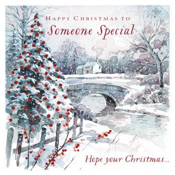 Happy Christmas To Someone Special - CHRISTMAS Cards - WINTER Scene CHRISTMAS Cards - CARDS For CHRISTMAS - Christmas CARDS For A Special PERSON