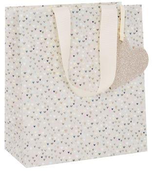Pretty Hearts Gift Bag - Medium CELEBRATORY Gift BAG - GIFT Bags - PREMIUM Gift BAGS  - Beautiful SPARKLY Medium GIFT BAG - Birthdays - WEDDINGS