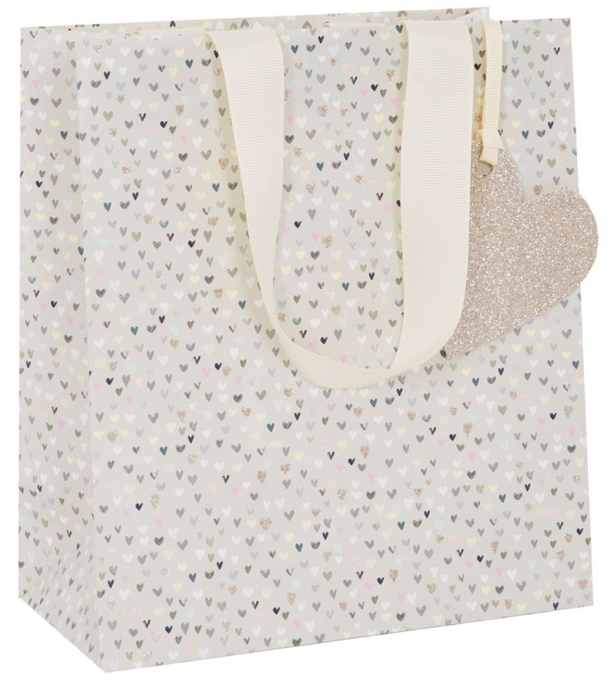 Pretty Hearts Gift Bag - Medium CELEBRATORY Gift BAG - GIFT Bags - PREMIUM