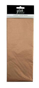 Metallic Copper Luxury Tissue Paper - Pack Of 4 - Luxury TISSUE Paper - GIFT Wrapping - Metallic COPPER Tissue PAPER - Wrapping TISSUE Paper