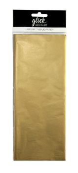 Metallic Gold Luxury Tissue Paper - Pack Of 4 - Luxury TISSUE Paper - GIFT Wrapping - Metallic GOLD Tissue PAPER - Wrapping TISSUE Paper