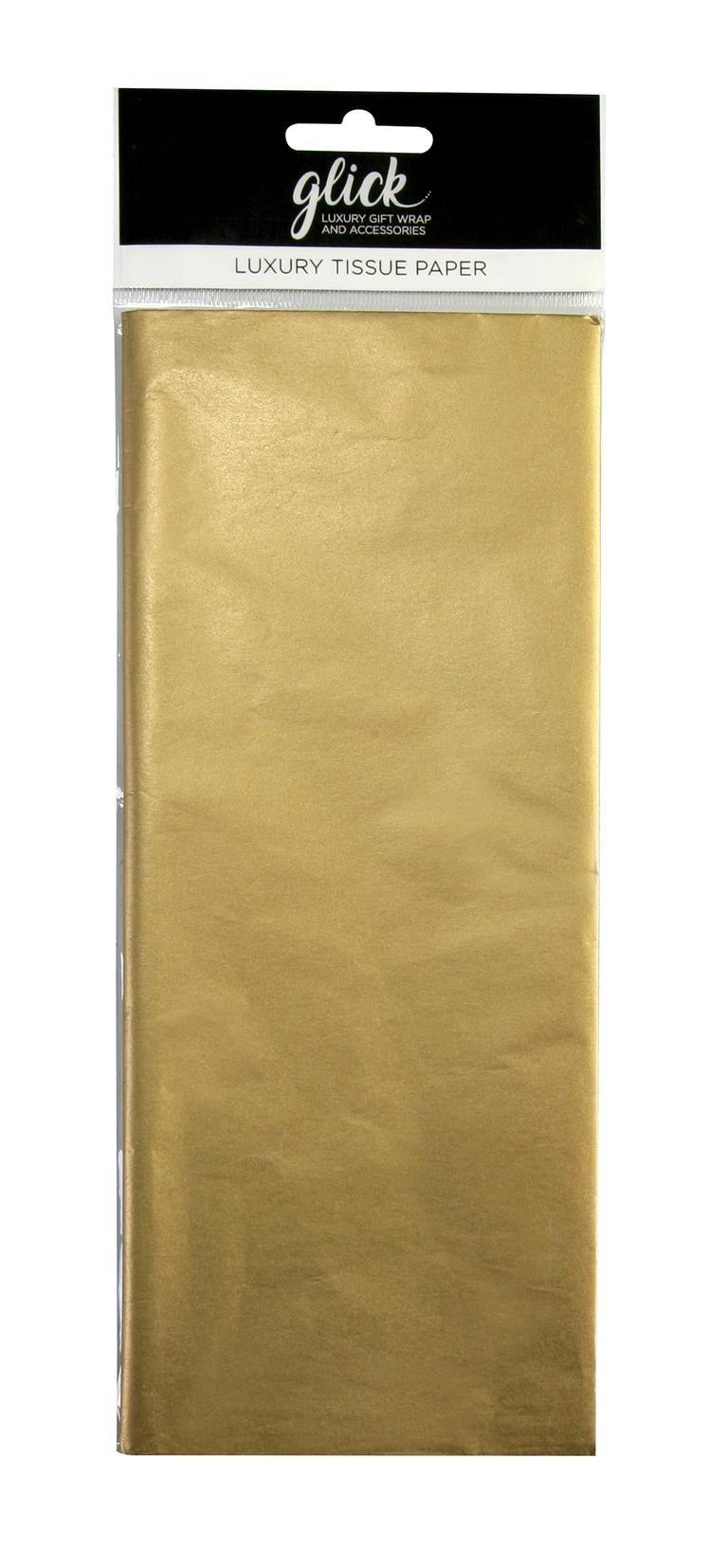 Metallic Gold Luxury Tissue Paper - Pack Of 4 - Luxury TISSUE Paper - GIFT