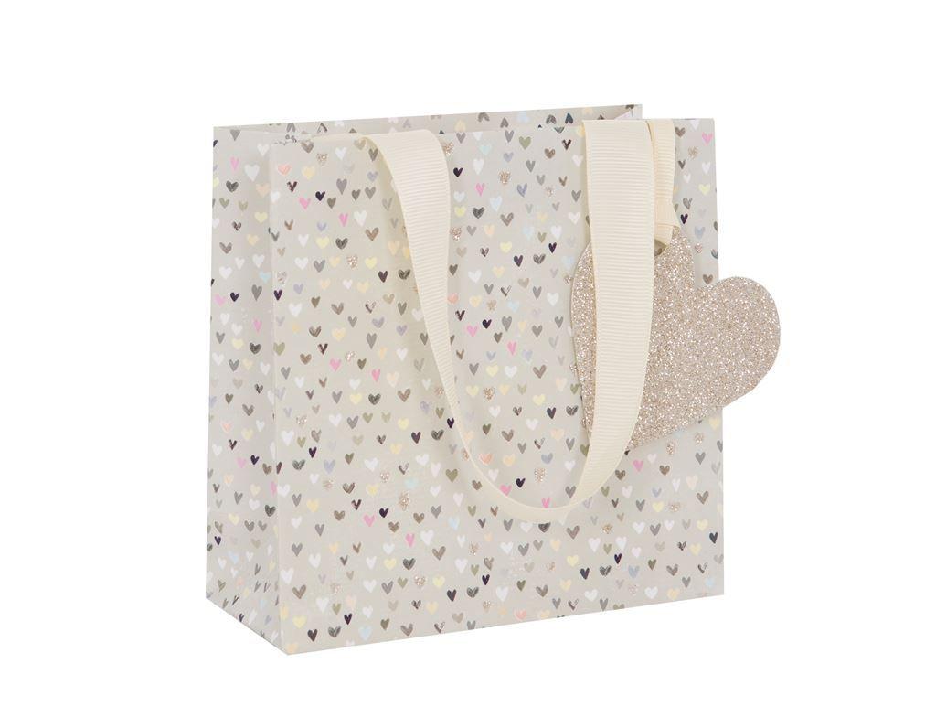 Pretty Hearts Gift Bag - Small CELEBRATORY Gift BAG - GIFT Bags - PREMIUM G