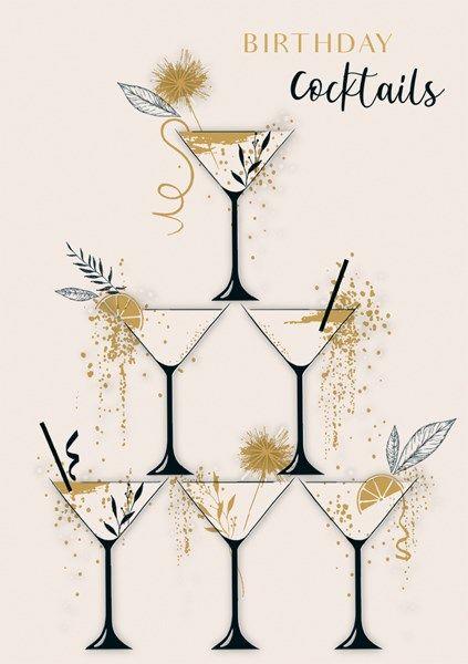 Birthday Cards - BIRTHDAY Cocktails - COCKTAIL Birthday CARDS - Stunning BI