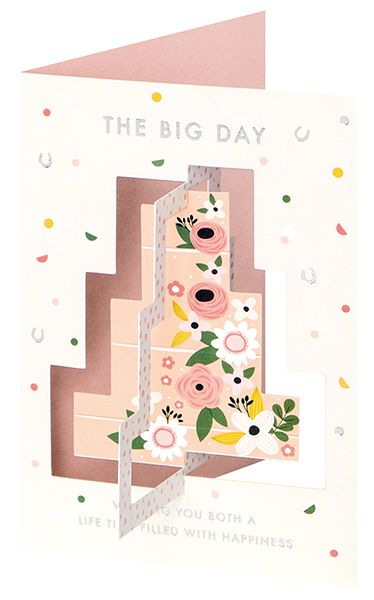 Wedding Cards - 3D TWIST Out CARD - THE BIG DAY - Unique WEDDING Day WISHES