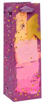 Painterly Purples Bottle Gift Bag - WINE & Bottle GIFT Bags - BOTTLE Gift BAGS - Gift BAG - Gift WINE Bag - Bottle BAGS & Wine GIFT Bags