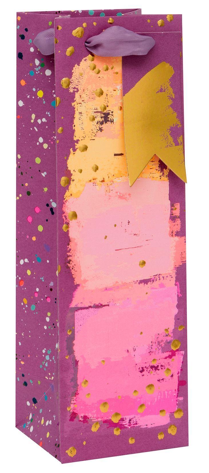 Painterly Purples Bottle Gift Bag - WINE & Bottle GIFT Bags - BOTTLE Gift B