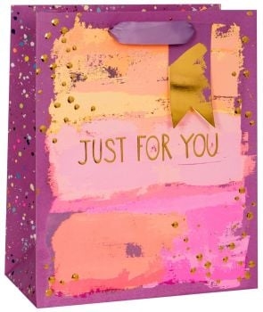 Painterly Purples Gift Bag - Large CELEBRATORY Gift BAG - GIFT Bags - PREMIUM Gift BAGS - Beautiful GOLD FOIL Large GIFT BAG - Birthdays