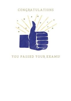 Passed Exams Card - CONGRATULATIONS You PASSED Your EXAMS - Congratulations GREETING Card - THUMBS Up CONGRATULATIONS Card -  GRADUATION Cards