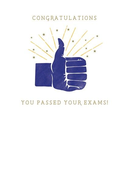 Passed Exams Card - CONGRATULATIONS You PASSED Your EXAMS - Congratulations