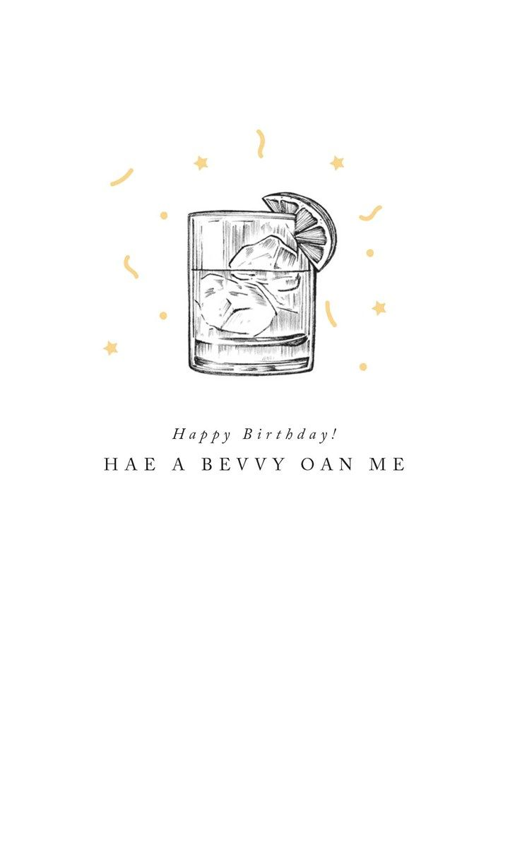 Scottish Cards - HAE A Bevvy OAN Me - SCOTTISH BIRTHDAY Cards ONLINE - Drin