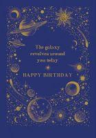 Galaxy Birthday Cards - The GALAXY Revolves AROUND You TODAY - Space BIRTHDAY Cards - BIRTHDAY Card For HUSBAND - Grandad - BROTHER - Friend
