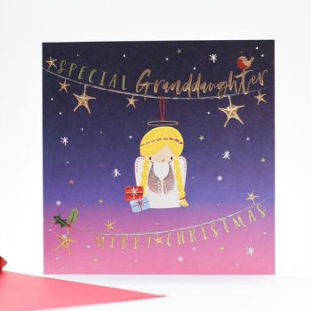 Granddaughter Christmas Cards - CHRISTMAS Cards For KIDS - MERRY Christmas - SPECIAL Granddaughter CHRISTMAS Cards - CUTE Angel Xmas CARD