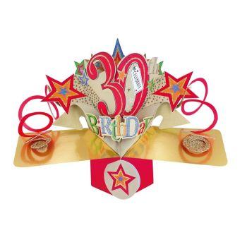 30th Birthday Cards - POP UP Birthday Cards - 3D POP UP Birthday CARDS - 30th CELEBRATE - Birthday Card For FRIEND - Work COLLEAGUE