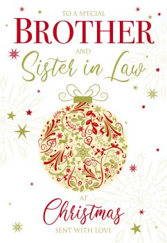 Brother & Sister-in-Law Christmas Cards - SENT With LOVE - CHRISTMAS Cards For COUPLES - Special BROTHER & Sister-in-Law Christmas Cards - CHRISTMAS