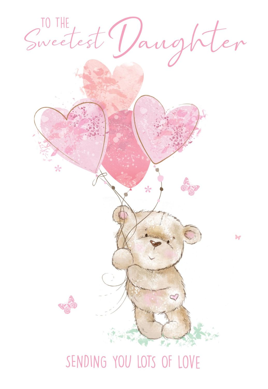 To The Sweetest Daughter Birthday Card - CHILDRENS Birthday CARDS - Birthda