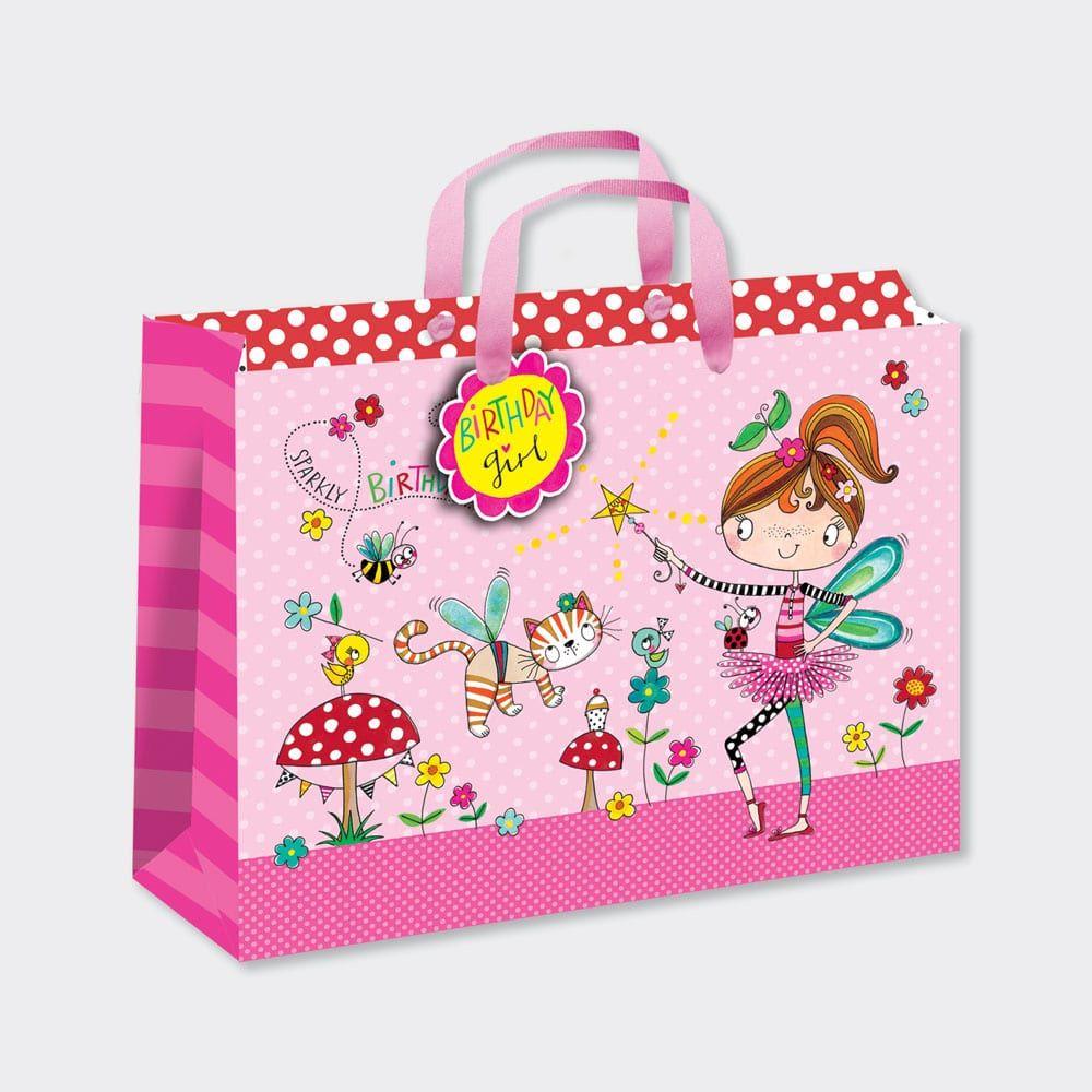 Large Luxury Gift Bag - CHILDREN'S Gift Wrap - FAIRY GIFT Bag - GIFT BAGS ‐