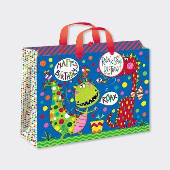 Large Luxury Gift Bag - CHILDREN'S Gift Wrap - DINOSAUR GIFT Bag - GIFT BAGS ‐ Birthday Boy Gift Bag - HAPPY Birthday Gift BAG