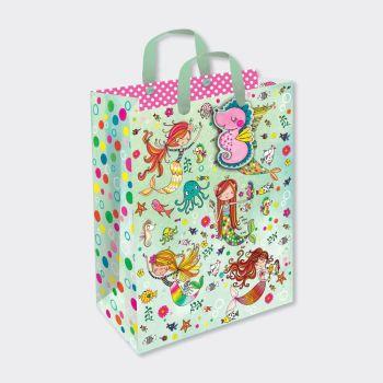 Mermaid Gift Bags - CHILDREN'S GIFT Bags - MERMAID GIFT Bag MEDIUM - Mermaid PARTY Bags - MEDIUM Mermaid GIFT BAG With TAG - Mermaid BIRTHDAY Gift BAG