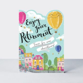 Enjoy Your Retirement Greeting Card - TIME For New ADVENTURES - Retirement CARDS - Cute RETIREMENT Card - RETIREMENT Card FOR Her