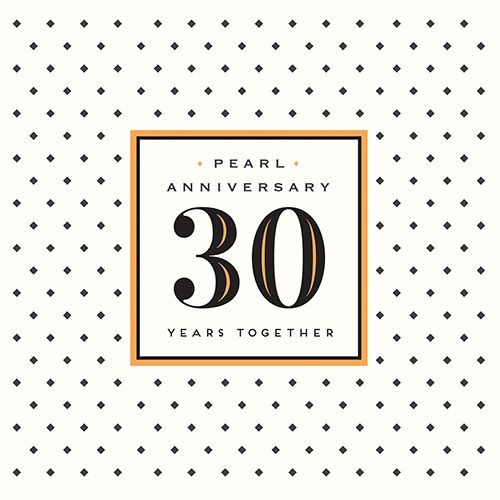 Pearl Anniversary Card - 30 YEARS Together - 30th WEDDING Anniversary CARD