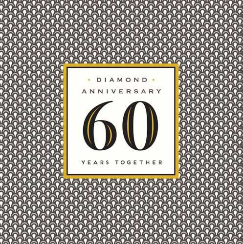 Diamond Anniversary Card - 60 YEARS Together - 60th ANNIVERSARY Cards - Dia