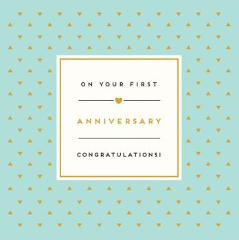 1st Wedding Anniversary Cards - ON Your FIRST Anniversary CONGRATULATIONS - Gorgeous 1st Anniversary CARD - 1st WEDDING Anniversary - Annivesary CARDS