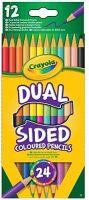 Crayola 12 Dual Sided Pencils - 24 COLOURS - COLOURING Pencils - PACK Of 12 - ADULT Colouring PENCILS - Kids COLOURING Pencils - CRAYOLA PENCILS
