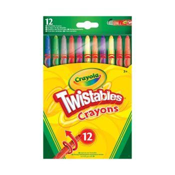 Crayola Twistable Crayons Pack of 12 - CRAYOLA Crayons ASSORTED Pack - CRAYONS - Kid's CRAYONS - Wax CRAYONS - CRAYOLA Crayons - COLOURED Crayons