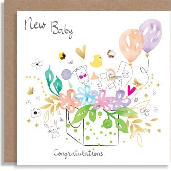 Baby Card - NEW Baby CONGRATULATIONS - Congratulations BABY Cards - BEAUTIFUL Embellished New BABY Card - NEW Baby CARDS