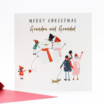 Christmas Cards For Grandparents - MERRY Christmas GRANDMA & GRANDAD - Cute CHRISTMAS Card For GRANDPARENTS - Merry CHRISTMAS Card For GRANDPARENTS