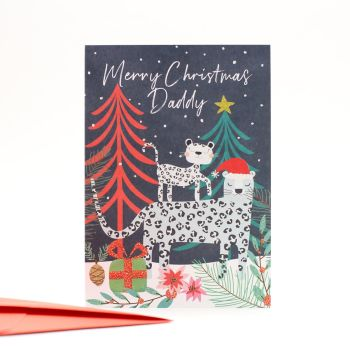 Dad Christmas Cards - MERRY Christmas DADDY - Daddy CHRISTMAS Cards - CUTE Leopard CHRISTMAS Cards - Christmas CARDS Online